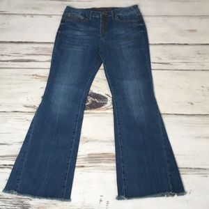 Seven7 Jeans High Rise Denim Super Flare Leg 14